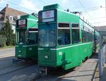 Die Trammotorwagen Be 4/6 Nr.664 und Nr.659 warten auf ihr unrühmliches Ende, Depot Dreispitz September 2016