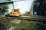 Die interessante Verschiebebühne für Tankwagen im hinteren Hafenbecken 1 (SATRAM und NEPTUN), 1975