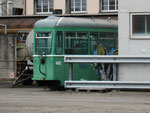 Der Tram-Anhängewagen B4 Nr.1482 in einer Ecke des Novartis-Geländes 2014