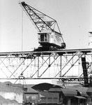Der revidierte Kran der Rheinischen Güterumschlags AG (vorm. Rheinische Kohlenumschlags AG) 1980