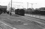 Ein Tramzug der BEB bei der Haltestelle Dreispitz im Jahre 1969