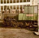 Eine schöne Farb-Foto von der Rheinhafen-Dampflokomotive T3 der Schweiz.Reederei, September 1972