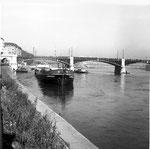 Bergung der havarierten «TS Padella» an der Johanniterbrücke 2am 0. Oktober 1960