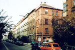 Blick in die Oetlingerstrasse im Jahre 1983 (rechts ehem. Firma TUBAG)