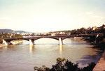 Blick von der Pfalz auf die Wettsteinbrücke, 1987