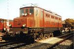 SBB Schnellzuglok E-10601 in Basel beim Wolf-Güterbahnhof, 1985