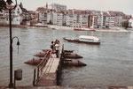 Die Klingentalfähre «Vogel Gryff« verlässt soeben den Steg, 1983