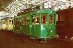 Der Trammotorwagen Be 2/2 Nr.202 im Verkehrshaus der Schweiz im Jahre 1972 (siehe zum Vergleich dazu vorangehende Fotos Nr.185 und 186)