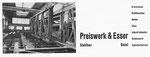 Inserat der «Preiswerk & Esser Stahlbau Basel» in der Zeitschrift «Strom und See» 1964