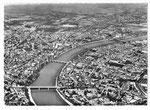 Ansichtskarte 30 Basel. (Photoglob Wehrli AG Zürich, Flug-Foto Schait Dübendorf)