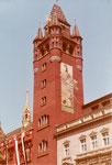 Der Rathausturm nach der Renovation 1980