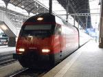 Schnellzug nach Bern auf Gleis 4, 23.August 2015