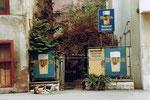 Der Eingang zum Restaurant Aeschentor, 1980 (Warteck - eine ehemaliges Basler Bierbrauerei mit einem Bier, das es nicht mehr gibt!!)