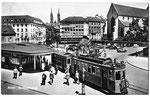 Ansichtskarte-Basel-Barfüsserplatz-Photoglob-Wehrli-AG-Zürich