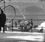 Vogel Gryff 1959, Das Floss des Wilden Mannes im Klingental kurz vor der Ankunft