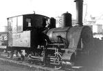 Die Rheinhafen-Dampflokomotive der Schweizerischen Reederei an einem Sonntagvormittag im Jahre 1971