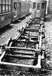 Untersätze von Tramwagen in der Abstellanlage Eglisee, 1971