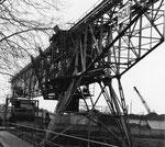 Renovation des Krans der RGU Rheinischen Güterumschlags (vorm.Rheinische Kohlenumschlags AG) im Hafenbecken 1 im Jahre 1979