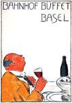 Das sentsationelle Plakat der 50er-Jahre für das Bahnhofbuffet Basel