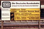 Der Bad.Bahnhof in Basel, Firmenschild für den Hallenabbruch 1982