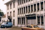 Gempp&Unold, der Haupteingang am Riehenring, 1980