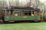 Der Trammotorwagen Be 2/2 Nr.164 in der Abstellanlage Eglisee, 1972