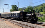 Dampflokomotive Nr. 2 in der Klus, Juli 2021