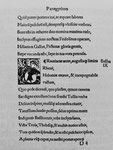 Ältestes lateinisches Lobgedicht von Glarean auf Basel gedruckt 1519 von Johannes Froben. zum Buch «BASEL - Denkschrift zur Erinnerung an die vor 2000 Jahren erfolgte Gründung Basels«, 1957  (Urs Graf-Verlag, Olten, Basel, Lausanne)
