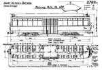 Tram-Motorwagen Be 4-4 Nr.400 «Dante Schuggi» (Zeichnung BVB)