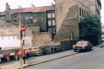 Der Abbruch der Häuser an der Hammerstrasse in der Nähe des Bläsiring im Jahre, 1981