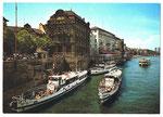 Ansichtskarte Nr.20043 Personenboote der Basler Personenschiffahrts-Gesellschaft an der Schifflände Basel (Rud.Suter Oberrieden Zürich)