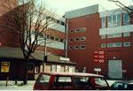 Die MUBA-Hallen am Riehenring/Sperrstrasse mit dem Restaurant Fryburgerstübli 1997