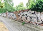 Die ehemalige Mauer zum Horburg-Gottesacker  -  darum der Name der Mauerstrasse, 2018