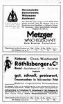 9) Metzger Wäschegeschäft und Röthlisberger & Cie Färberei