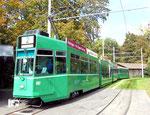Trammotorwagen Be 4/4 Nr.662 an der Endhaltestelle Eglisee im Oktober 2015