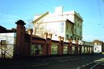 Die markante Häuserreihe an der Viaduktstrasse, 1980