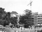 Der Bau des Heuwaage-Hochhauses im Jahre 1952 durch das Baugeschäft Gebr.Stamm, Basel