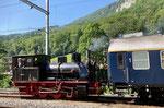 Die Dampflokomotive Nr.1 in der Klus, Juli 2021