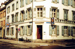 Das Quartier-Restaurant Amerbach an der Ecke Hammerstrasse/Amerbachstrasse 1977