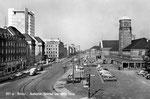 Ansichtskarte 507 g Basel. Badischer Bahnhof und Geigy-Haus (Rückseite der Karte beschädigt: Verlag & Photo ?)