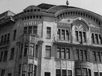 Die markante und schöne Fassade des Warenhaus GLOBUS am Marktplatz, 1969