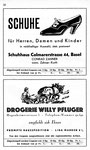 50) Schuhhaus Colmarerstrasse   /    Drogerie Willy Pflüger