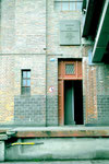 Der Eingang zum Bernoulli-Silo und zur Dachterrasse 1999