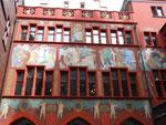 Wandmalerei von Hans Bock im Innenhof des Rathauses in Basel, gemalt 1608 bis 1611 im September 2016