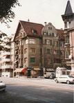 Das markante Eckhaus der Bäckerei Armbruster an der Zürcherstrasse, 1983