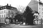 Häuser an der Kreuzung Claragraben/Sperrstrasse im Jahre 1970