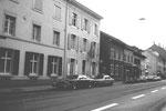 Die Häuserreihe an der Klybeckstrasse - zwischen Bläsiring und Amerbachstrasse mit dem Restaurant Neptun, 1974