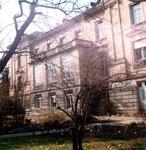 Die Rückfassade des Gebäudes im Botanischen Garten an der Schönbeinstrasse, 1983