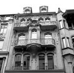Die schöne Fassade des Hauses Freie Strasse 11, 1975