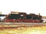 Dampflokomotive BR 57 3088 nach der Renovation im BW Haltungen 1978 (Diese Dampflok gibt es auch als Modell von ROCO-Modelleisenbahn)